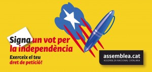 SIGNA UN VOT PER LA INDEPENDÈNCIA / properes recollides de signatures a la comarca