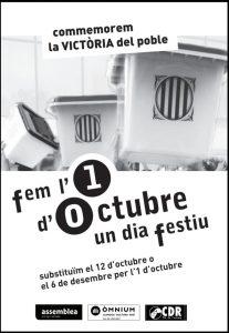 FEM L'1 D'OCTUBRE UN DIA FESTIU